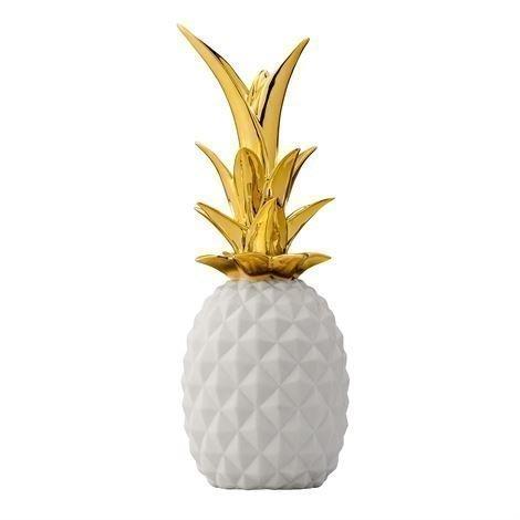 Bloomingville Pineapple Koriste Valkoinen-Kulta