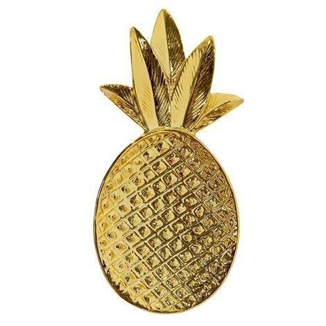 Bloomingville Pineapple Koristetarjotin Kulta