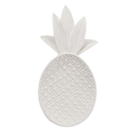Bloomingville Pineapple Koristetarjotin Valkoinen