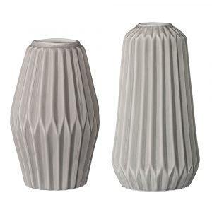 Bloomingville Porcelain Maljakko Harmaa 2-Pakkaus