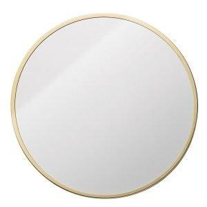 Bloomingville Pyöreä Peili Golden Frame Kulta