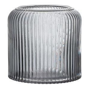 Bloomingville Rippled Jar Kukkaruukku Harmaa