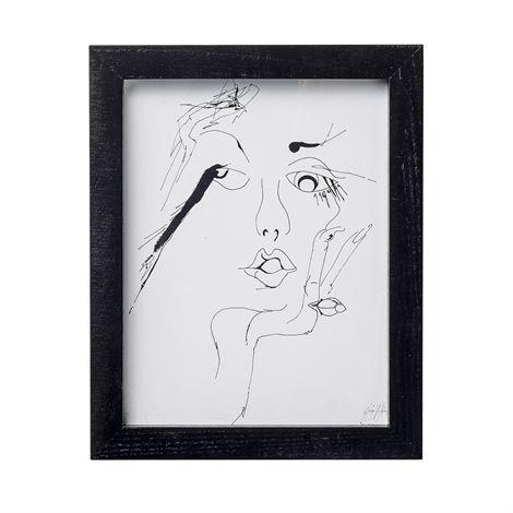 Bloomingville Sketched Woman Taulu 20x25 cm