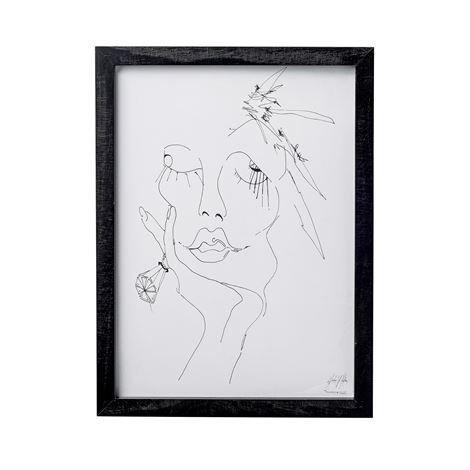 Bloomingville Sketched Woman Taulu 30x40 cm