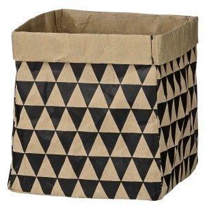 Bloomingville Triangle Paperipussi Luonnonvärinen / Musta