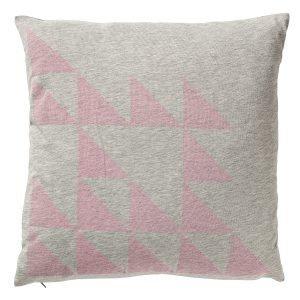 Bloomingville Triangles Tyyny Harmaa / Vaaleanpunainen