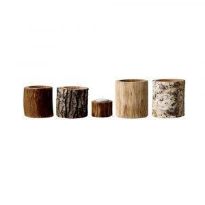 Bloomingville Wood Kynttilälyhty Puu 5-Pakkaus