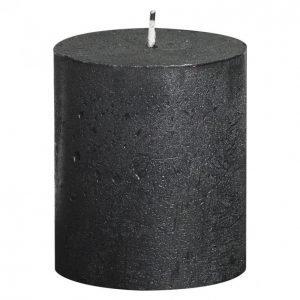 Bolsius Rustic Metallitummanharmaa Pöytäkynttilä 80 X 68 Mm