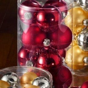 Boltze Joulupallo 12-Pakkaus Punainen