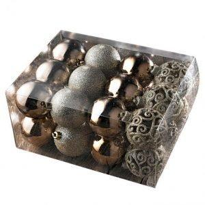 Boltze Joulupallo 24-Pakkaus Kullanvärinen / Hopeanvärinen