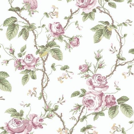 Boråstapeter French Roses Tapetti Valkoinen