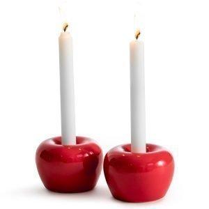 Born In Sweden Apple Kynttilälyhty S Punainen 2-Pakkaus