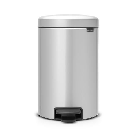 Brabantia New Icon Poljinroskis 12 Litraa Metallic Grey Harmaa