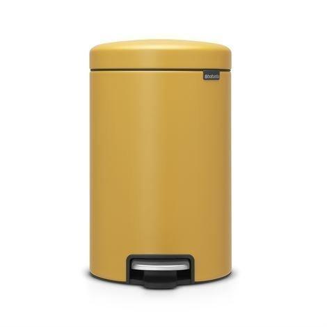 Brabantia New Icon Poljinroskis 12 Litraa Mineral Mustard Yellow Keltainen