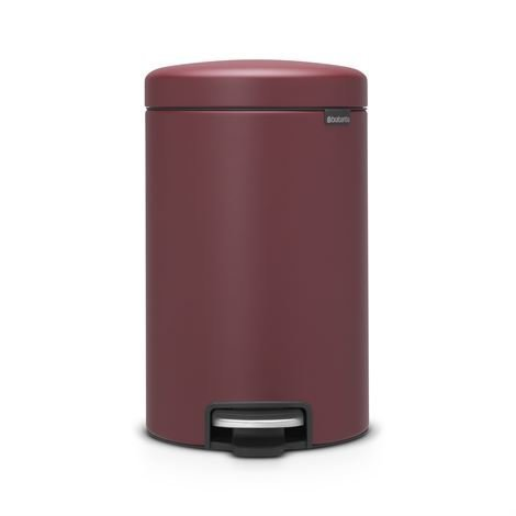 Brabantia New Icon Poljinroskis 12 Litraa Mineral Windsor Red Punainen