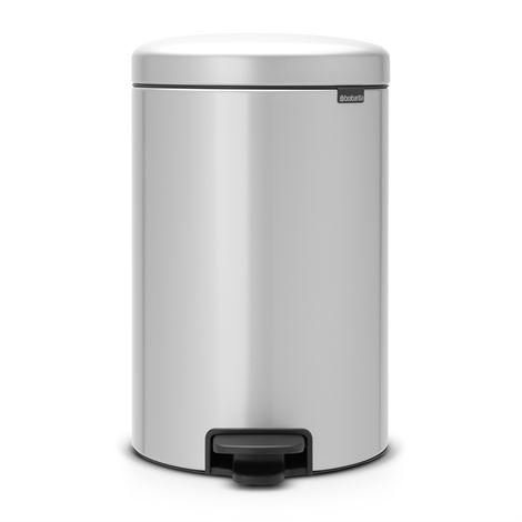 Brabantia New Icon Poljinroskis 20 Litraa Metallic Grey Harmaa