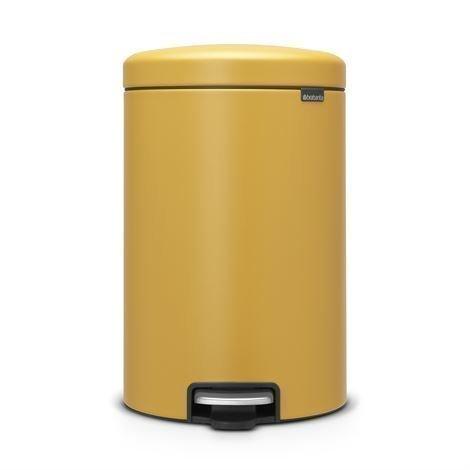 Brabantia New Icon Poljinroskis 20 Litraa Mineral Mustard Yellow Keltainen
