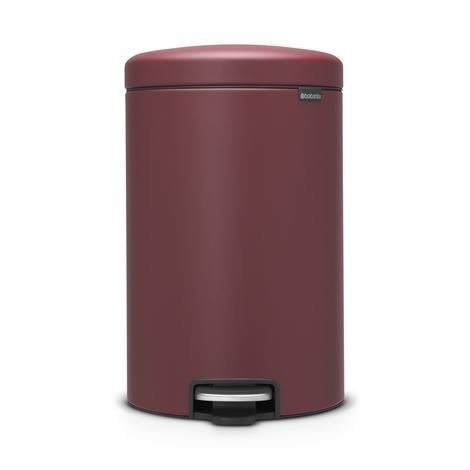Brabantia New Icon Poljinroskis 20 Litraa Mineral Windsor Red Punainen