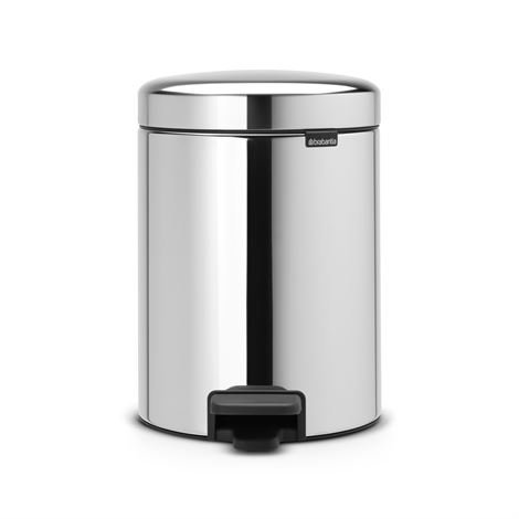 Brabantia New Icon Poljinroskis 5 Litraa Brilliant Steel Kiiltävä Teräs
