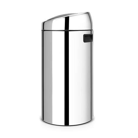Brabantia Touch Bin Roskakori 45 Litraa Brilliant Steel Hopea