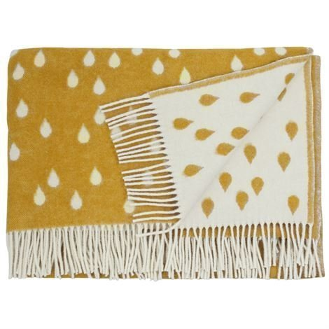 Brita Sweden Rainy Days Huopa Hunajankeltainen 130 x 180 cm