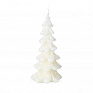 Broste Copenhagen Christmas Tree Candle Kynttilä Valkoinen 9x9 Cm