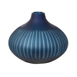 Broste Copenhagen Cut Stripe Maljakko Moonlight Blue 25 Cm