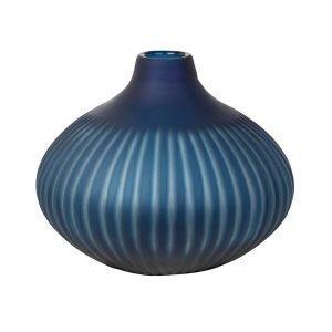 Broste Copenhagen Cut Stripe Maljakko Moonlight Blue 25 Cm
