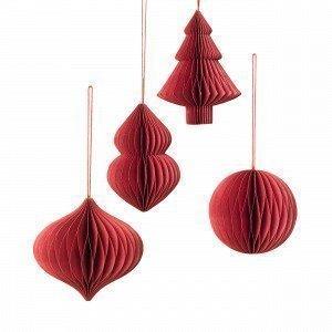 Broste Copenhagen Deco Joulukuusenkoriste Punainen