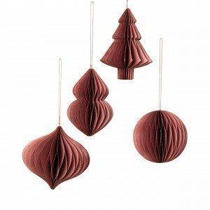 Broste Copenhagen Deco Joulukuusenkoriste Rubiininpunainen