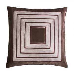 Broste Copenhagen Embroidery Tyynynpäällinen Ruskea 50x50 Cm