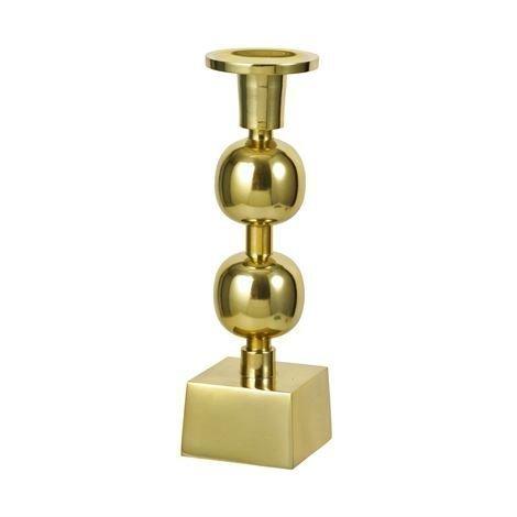 Broste Copenhagen Globe Kynttilänjalka Messinki Keskikokoinen 23 cm