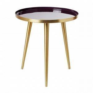 Broste Copenhagen Jelva Apupöytä Tummanliila 35x35 Cm