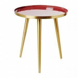 Broste Copenhagen Jelva Apupöytä Tummanpunainen 35x35 Cm