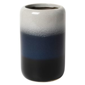 Broste Copenhagen Lau Tall Maljakko Insignia Blue / Drizzle / Black