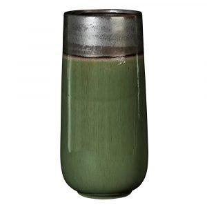 Broste Copenhagen Laust Cylinder Maljakko Iso Harmaa / Vihreä