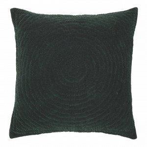 Broste Copenhagen Quilt Ring Tyynynpäällinen Tummanvihreä 60x60 Cm