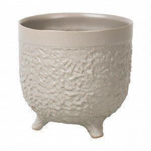 Broste Copenhagen Raw L Pot Ruukku Beige 14.5x14.5 Cm