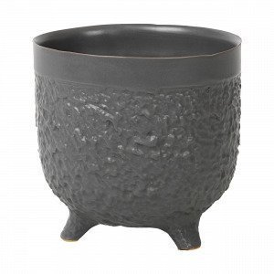 Broste Copenhagen Raw L Pot Ruukku Musta 14.5x14.5 Cm