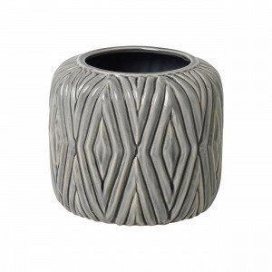 Broste Copenhagen Rhombe Pot Ruukku Harmaa 16x16 Cm