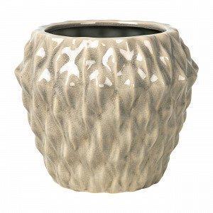 Broste Copenhagen Rhomby L Pot Ruukku Beige 20x20 Cm