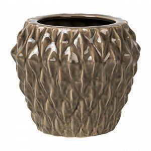 Broste Copenhagen Rhomby L Pot Ruukku Ruskea 20x20 Cm