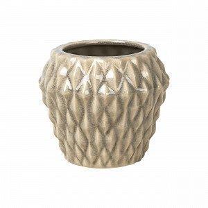 Broste Copenhagen Rhomby S Pot Ruukku Beige 14.5x14.5 Cm