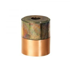 Broste Copenhagen Ritt Kynttilänjalka Rainbow Messinki / Kupari 8 Cm
