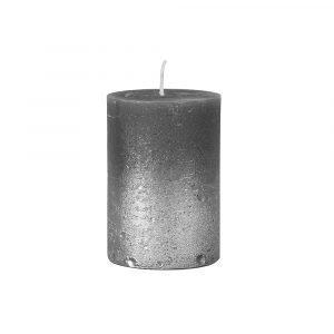 Broste Copenhagen Spray Pöytäkynttilä Harmaa / Hopea 10 Cm