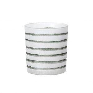 Broste Copenhagen Stripes Kynttilälyhty Oil Green 8 Cm