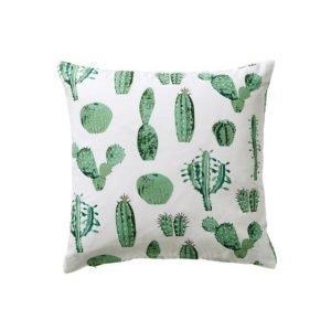 Cactus Tyynynpäällinen 45x45 Cm Valkoinen