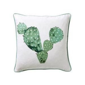 Cactus Tyynynpäällinen 50x50 Cm Valkoinen