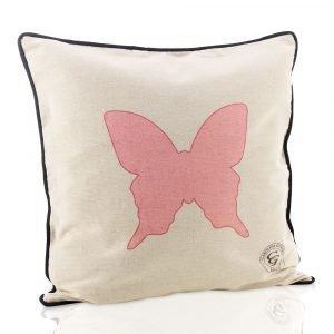 Carolina Gynning Pink Butterfly Tyynynpäällinen