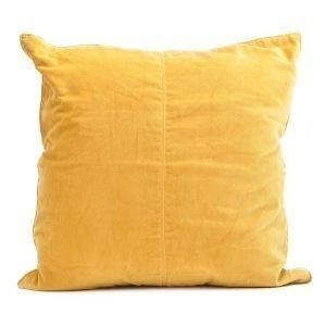 Ceannis Velvet Tyynynpäällinen Keltainen 50x50 Cm